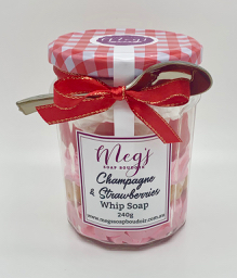 Champagne & Strawberries Whip Soap
