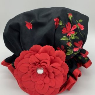 Black Rose shower Hat