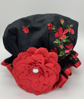 Black Rose shower Hat