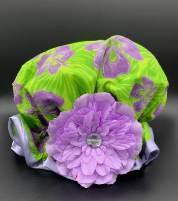 Purple Hibiscus Shower Hat