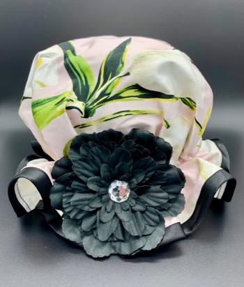 White tulip shower hat