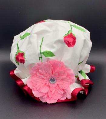 Rose Bud Shower Hat