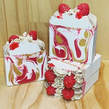 Raspberry Oats Soap