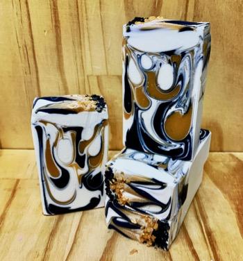 Black Linen & Amber Yoghurt Soap