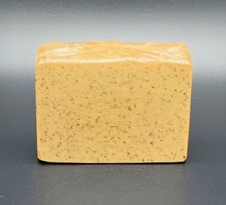 Salted caramel coffee soap