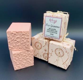 Rose Geranium French Clay Soap