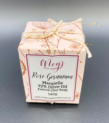 Rose Geranium French Clay Soap Single