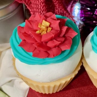 Poinsettia Cupcake Soap