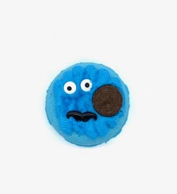 Cookie Monster donut bath bomb