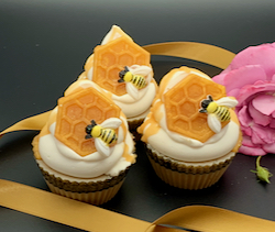 Queen Bee Cupcake Soap